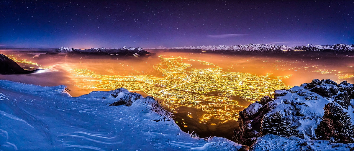 Photograph Grenoble by night by Joris Kiredjian on 500px