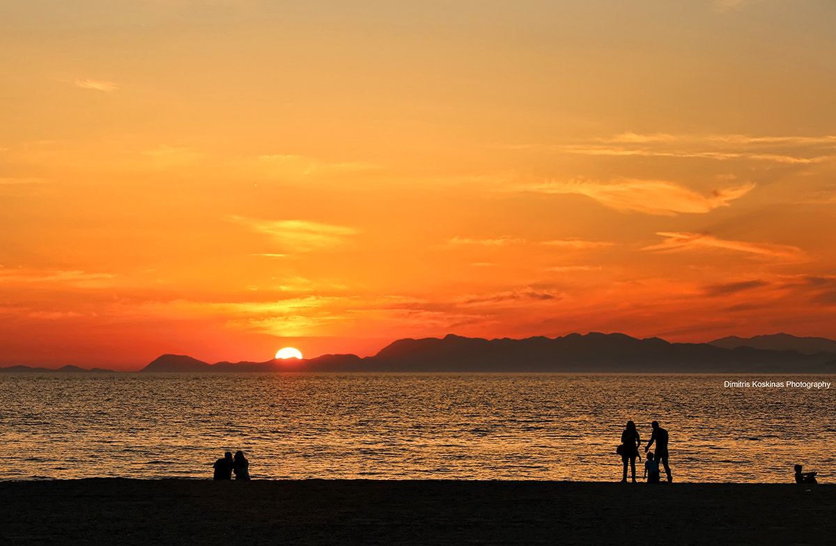 Photograph Sunset  silhouettes  at Rhodes by Dimitris Koskinas on 500px