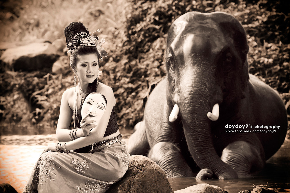 Photograph Angel with Elephant # 3 by Doy Pdamobiz on 500px