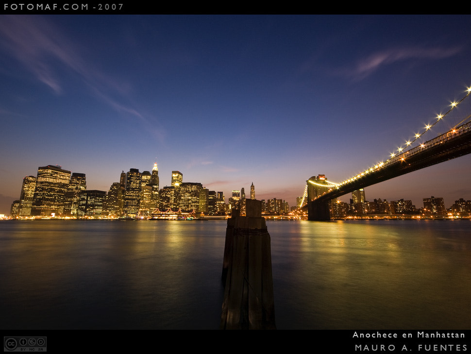 Photograph Anochece en Manhattan 1 by Mauro Fuentes on 500px