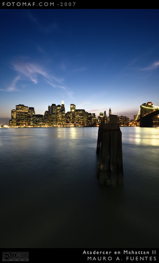 Photograph Anochece en Manhattan 2 by Mauro Fuentes on 500px
