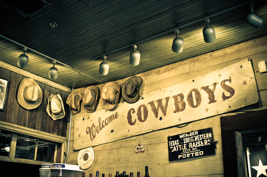Cowboy Hats at Gruene Hall