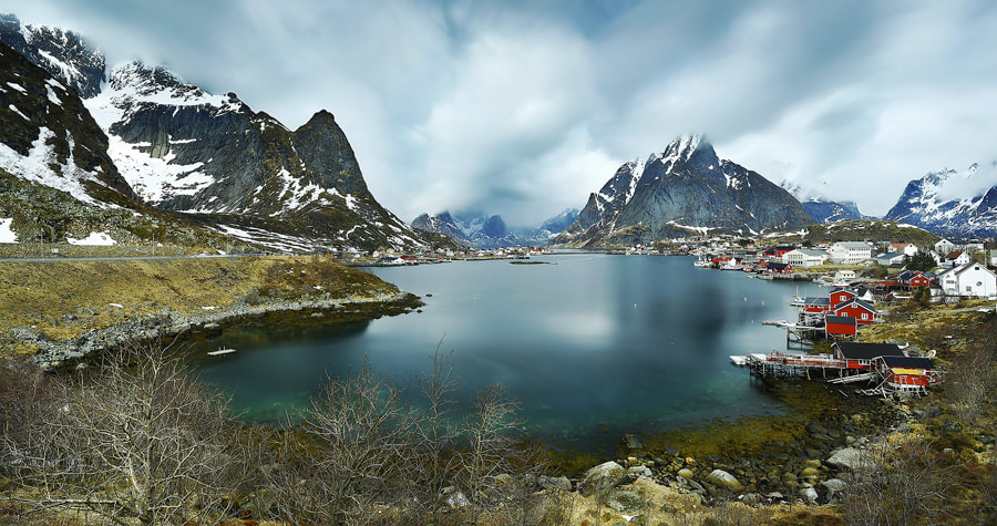 Photograph Reine Panorama by Christopher Waddell on 500px