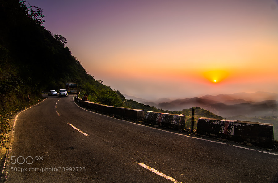 The drive from Dehradun to Mussoorie is an awesome one. ws lucky to see the sunset in the Himalayas on the way back with fog and the winding roads.Thanks for the visit