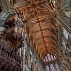 This is another view of the magnificent interior of Ely Cathedral in Cambridgeshire, England.