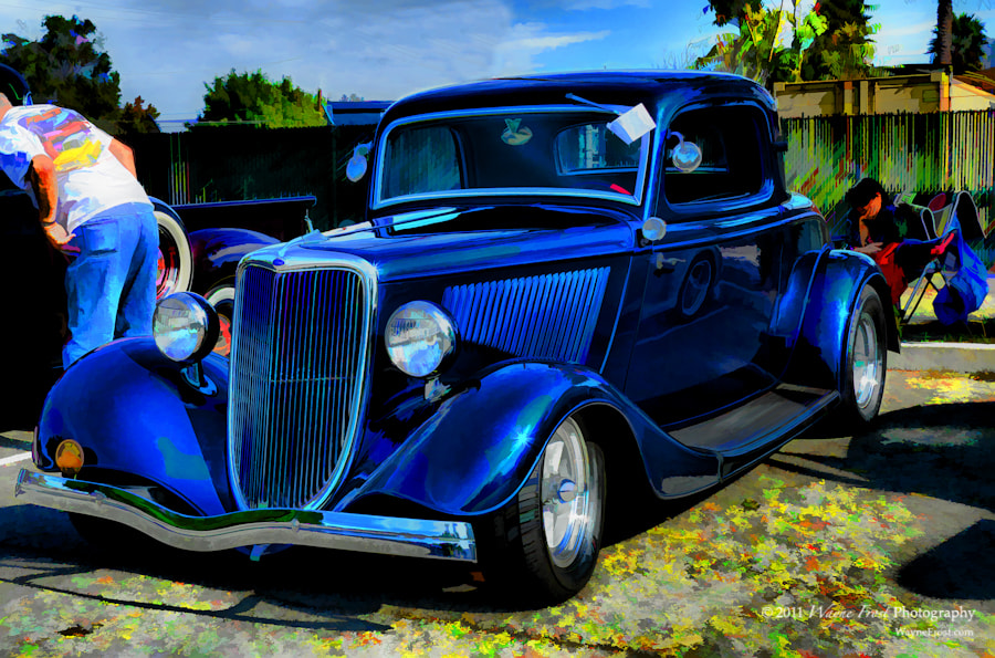 Photograph Blue Coupe by Wayne Frost on 500px