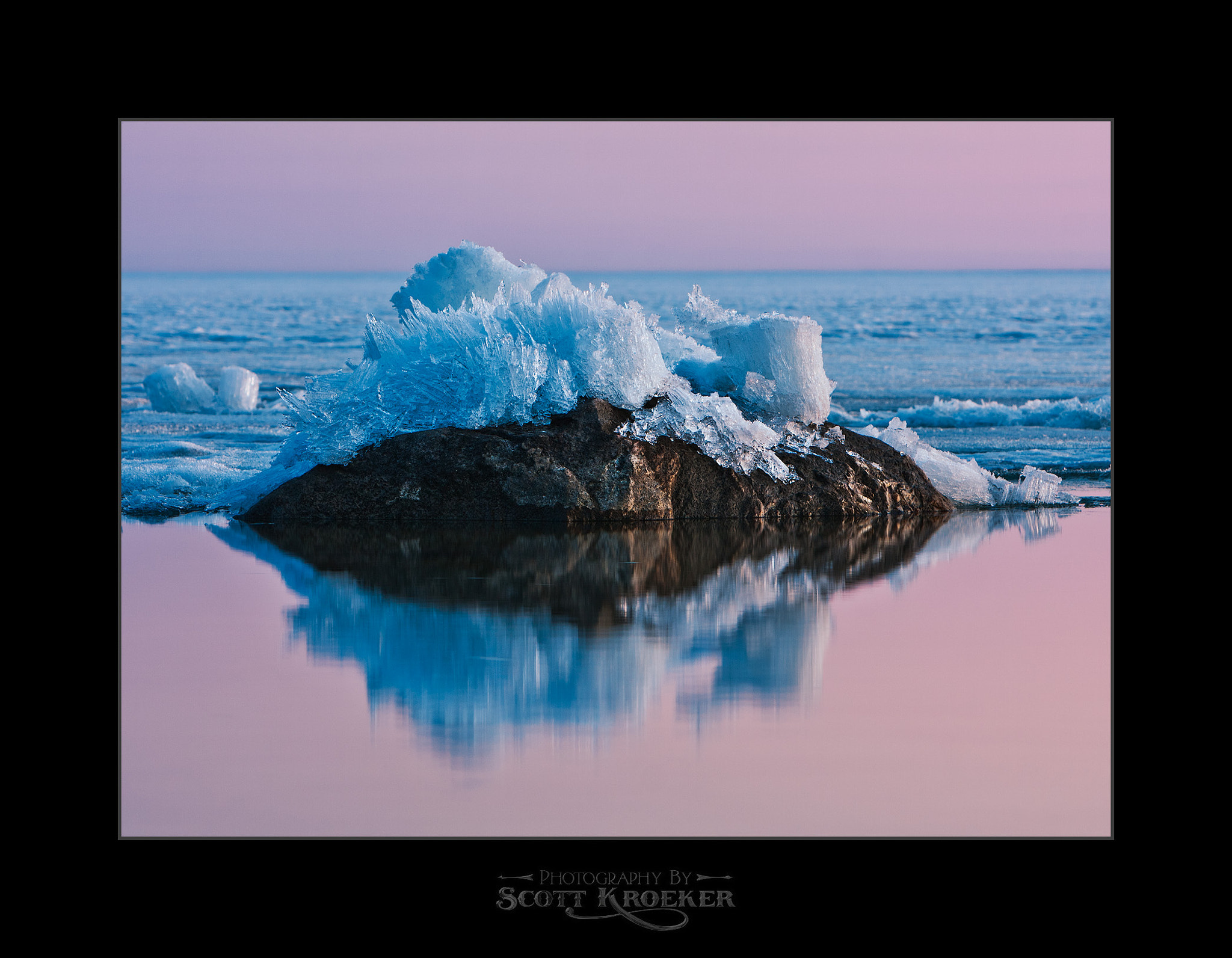 Photograph Lake Ice VS Immovable Rocks II by Scott Kroeker on 500px