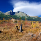 The mountain autumn landscape - High Tatras, Lomnicky Peak