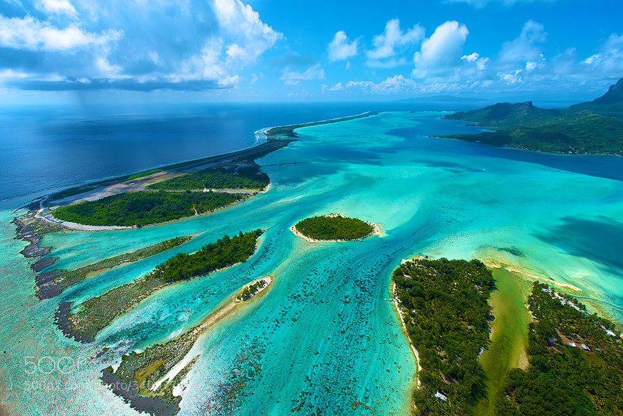 Photograph Aerial of Bora Bora by David Kosmos Smith on 500px