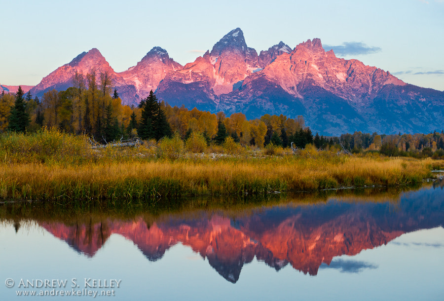 Photograph Alpenglow on Grand Teton by Andrew Kelley on 500px