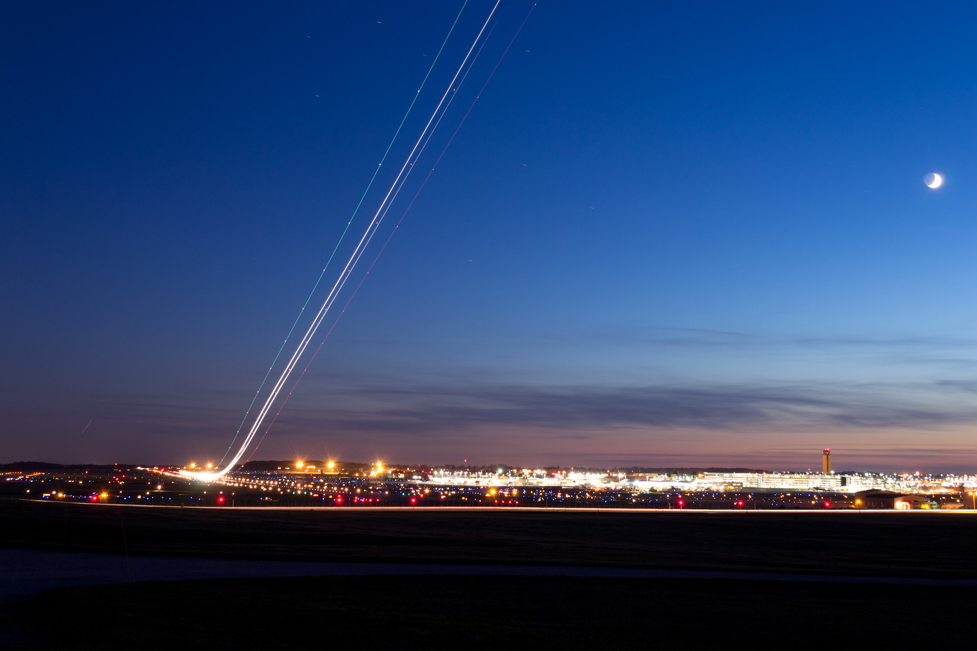 Photograph Airplane Light Trails 2 by Randy Scherkenbach on 500px