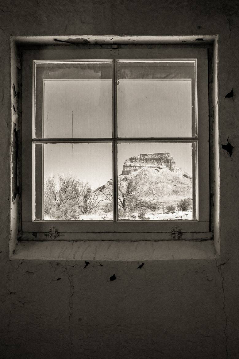 Photograph Cerro Castolon Through a Window by Erik Pronske on 500px