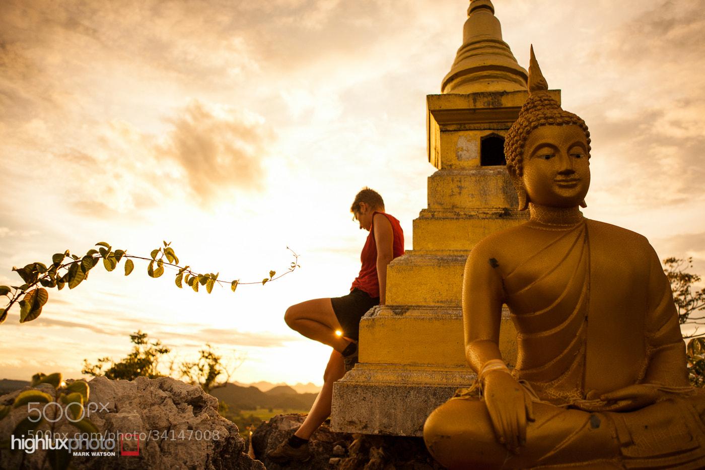 Photograph Sunset Stupa by Mark Watson on 500px