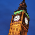 This image of London's famous clock tower -- colloquially and incorrectly called 'Big Ben', but in actuality now called Elizabeth Tower -- is one of a series of images I shot of the Houses of Parliament in Westminster on our last night in London on this trip.This image is something of a 'labour of love'.  I dragged Xenedette into the cold, rainy and windy streets where we stood in constant drizzle for the better part of two hours while I waited for the right light and shot my series of images.  To say I am pleased with the result is an understatement, as I've been wanting to shoot some twilight images of London's 'postcard' scenes for a while, and the weather has been less than accommodating.  Even tonight, the weather was not ideal or pleasant, but even during cloudy nights, the twilight produces a royal blue sky, with some additional texture in the way of the clouds.