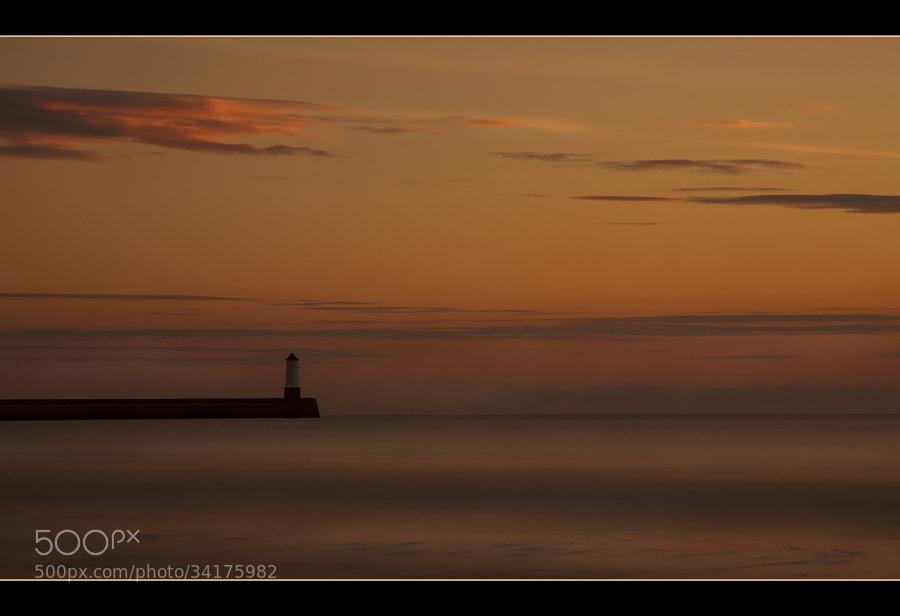 Berwick Lighthouse at dawn