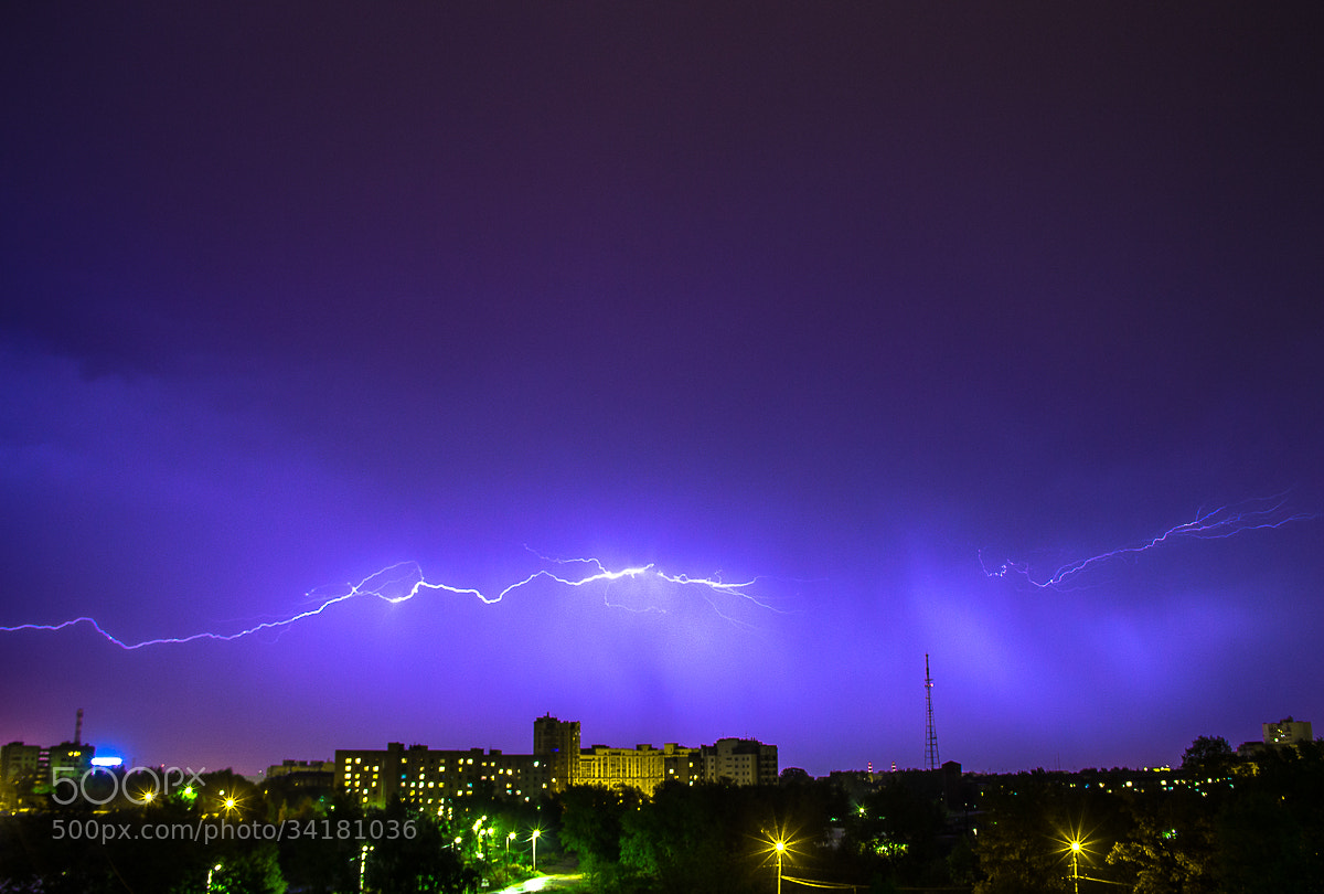 Photograph .the first thunder-storm in this year. by Ekaterina Kochetkova on 500px