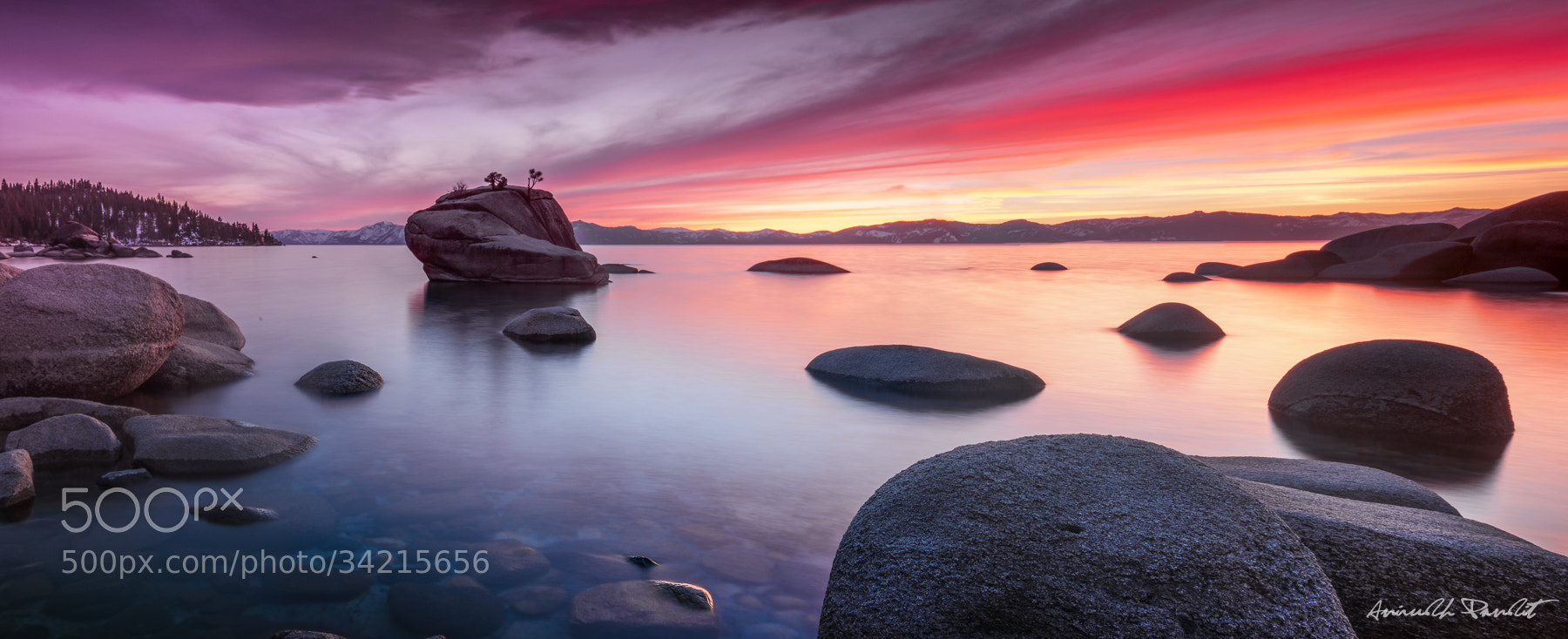 Photograph Lake Tahoe Sunset panorama by Ani Pandit on 500px