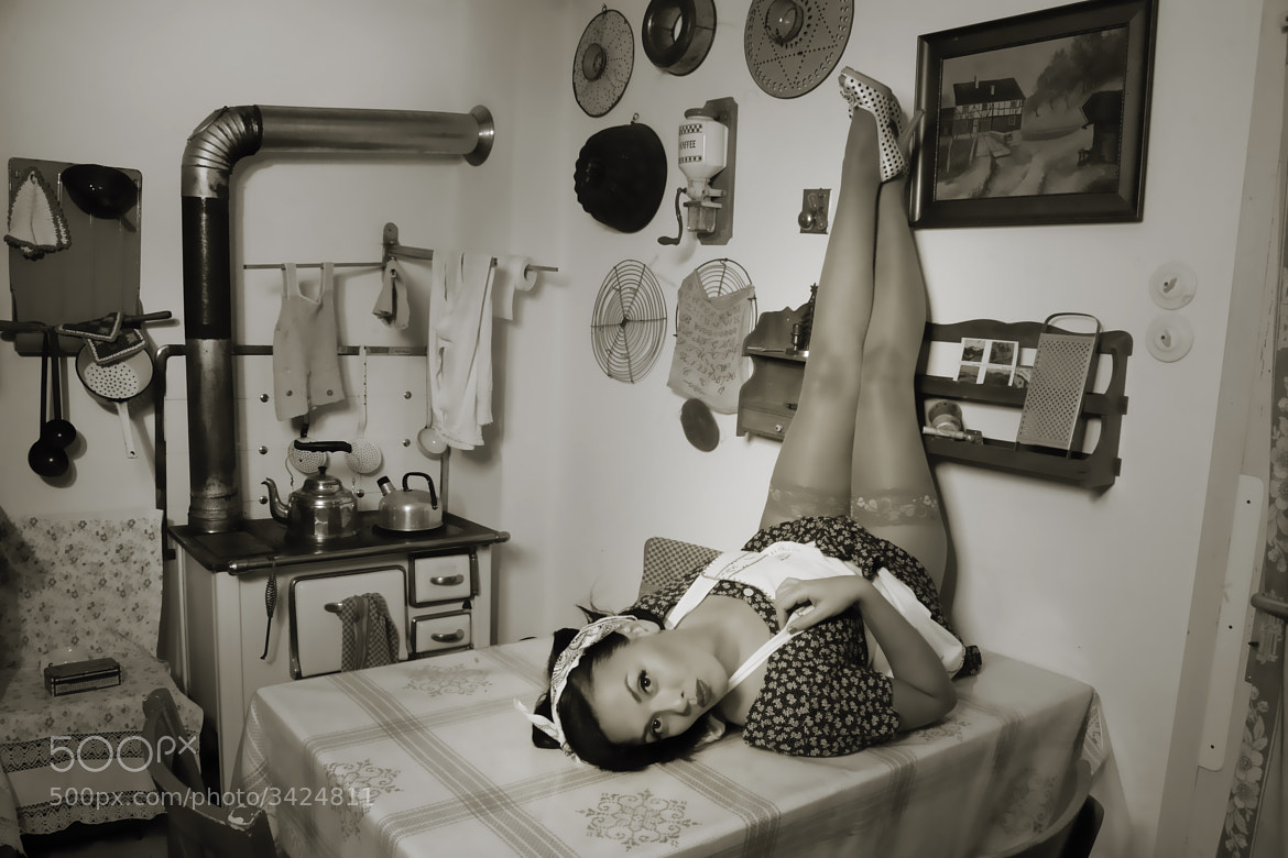 Photograph Kitchen PinUp by Thomas van de Wall on 500px
