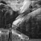 Image réalisée lors de l'expo de J.R sur l'ile St LOUIS lors des nuits blanches en 2009.