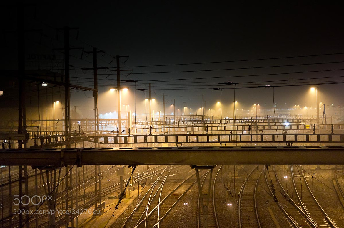 Photograph foggy train station by Martin Weibel on 500px
