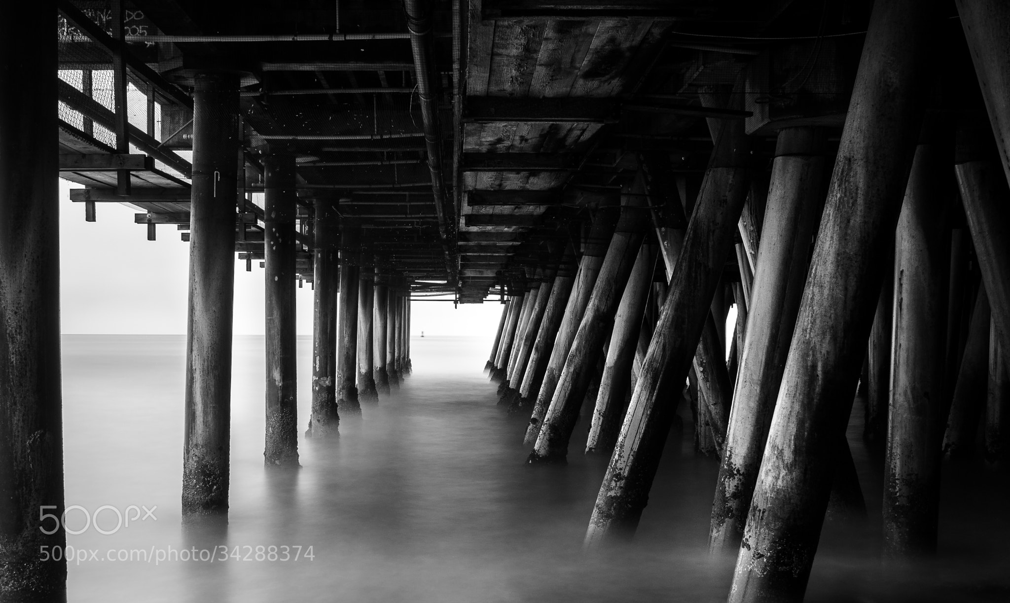 Photograph Under the Pier by Jeffery Wang on 500px