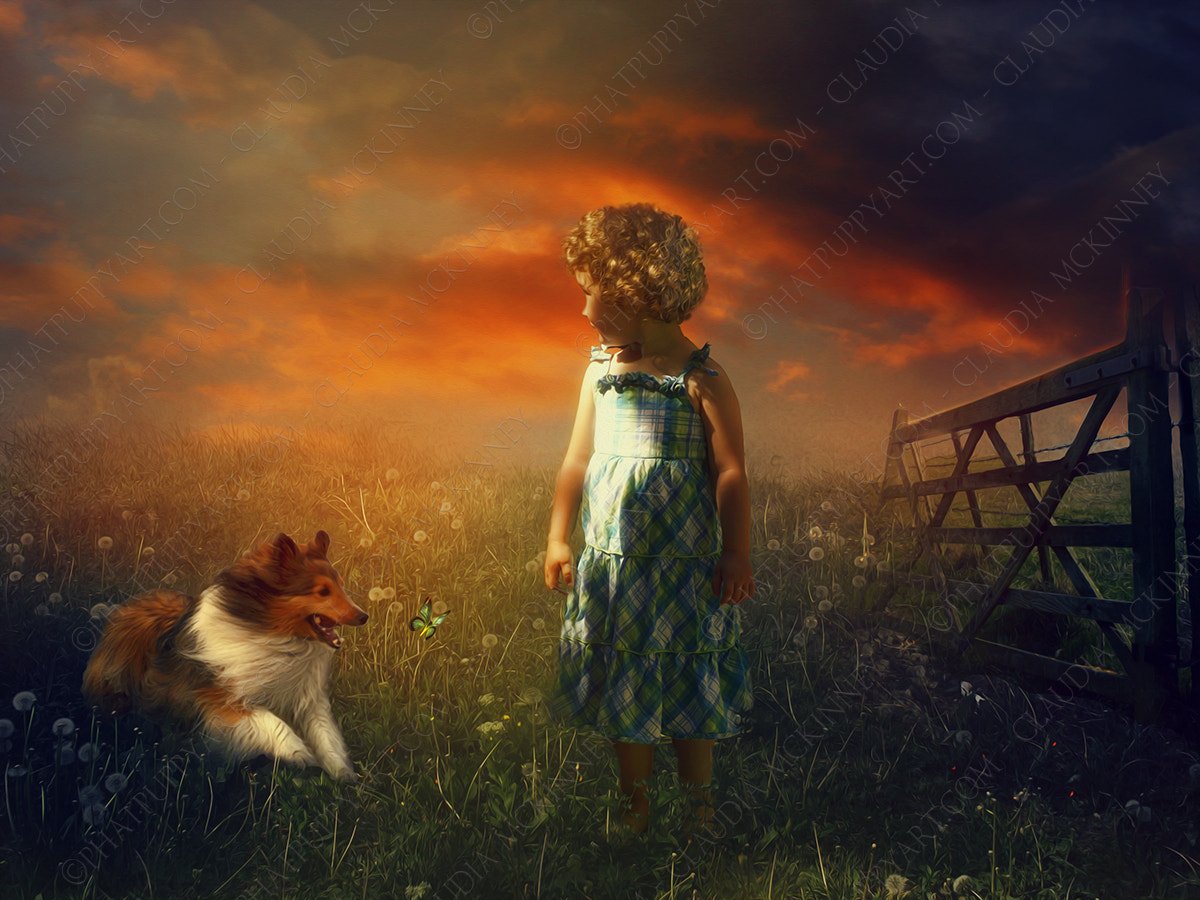 Photograph A Girl and Her Dog by Phatpuppy Art on 500px