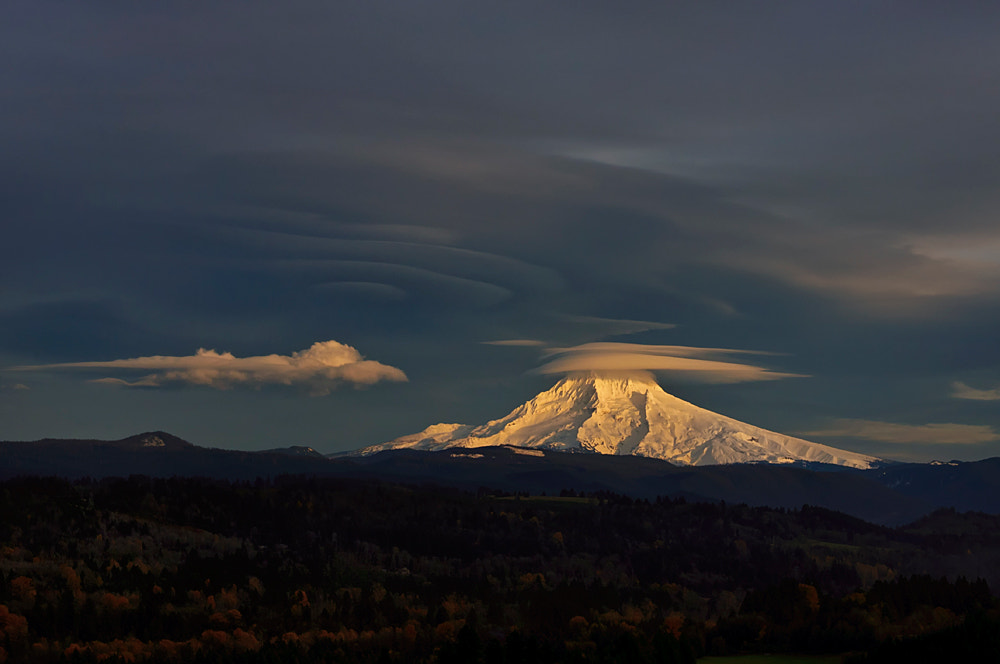 Photograph Mt Hood & Clouds by kathy towe on 500px