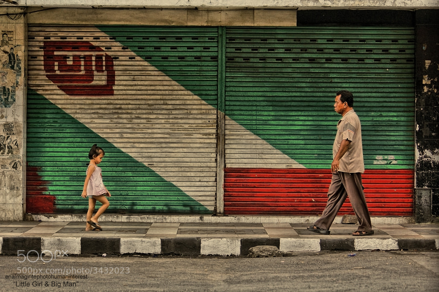 "Photograph ""Little Girl & Big Man"" by enal magirite on 500px"