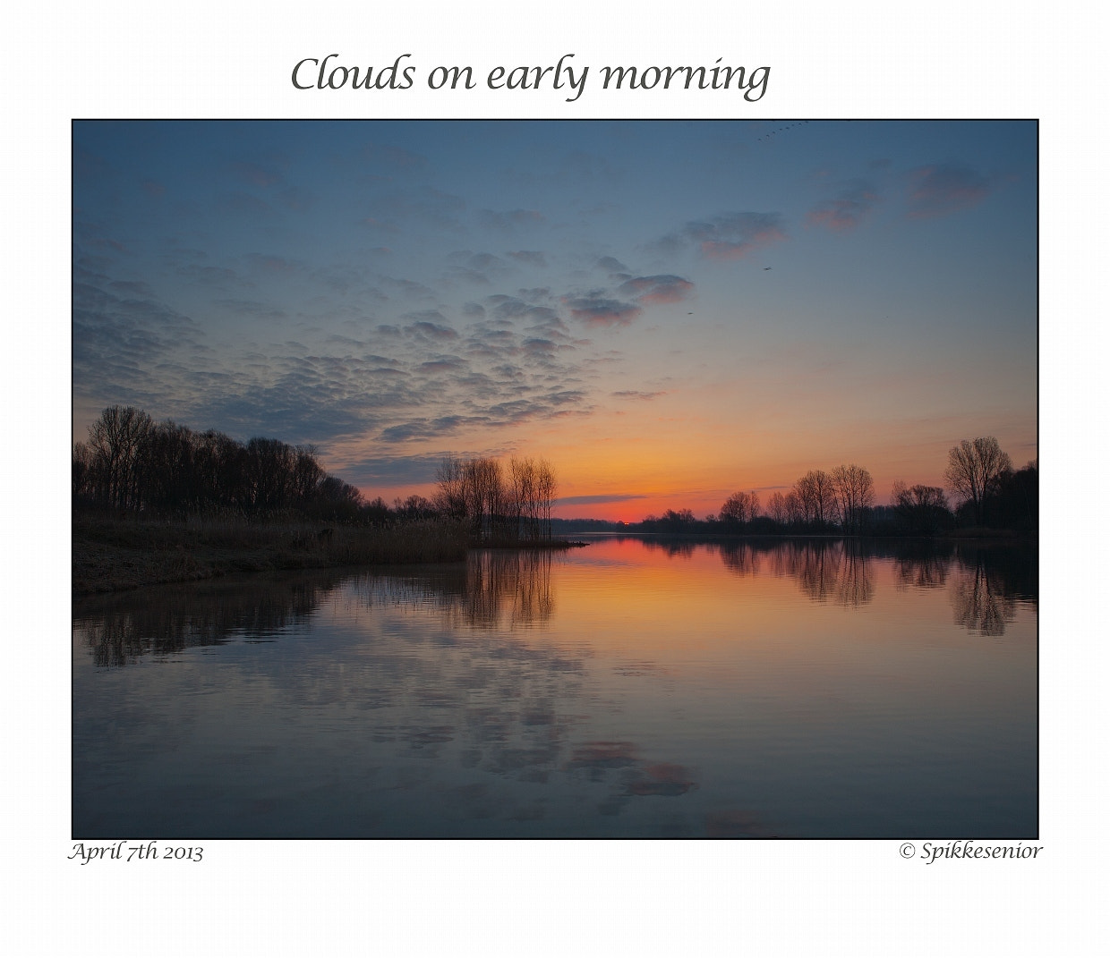 Photograph Clouds on an early morning by Eddy VANDERSPIKKEN on 500px
