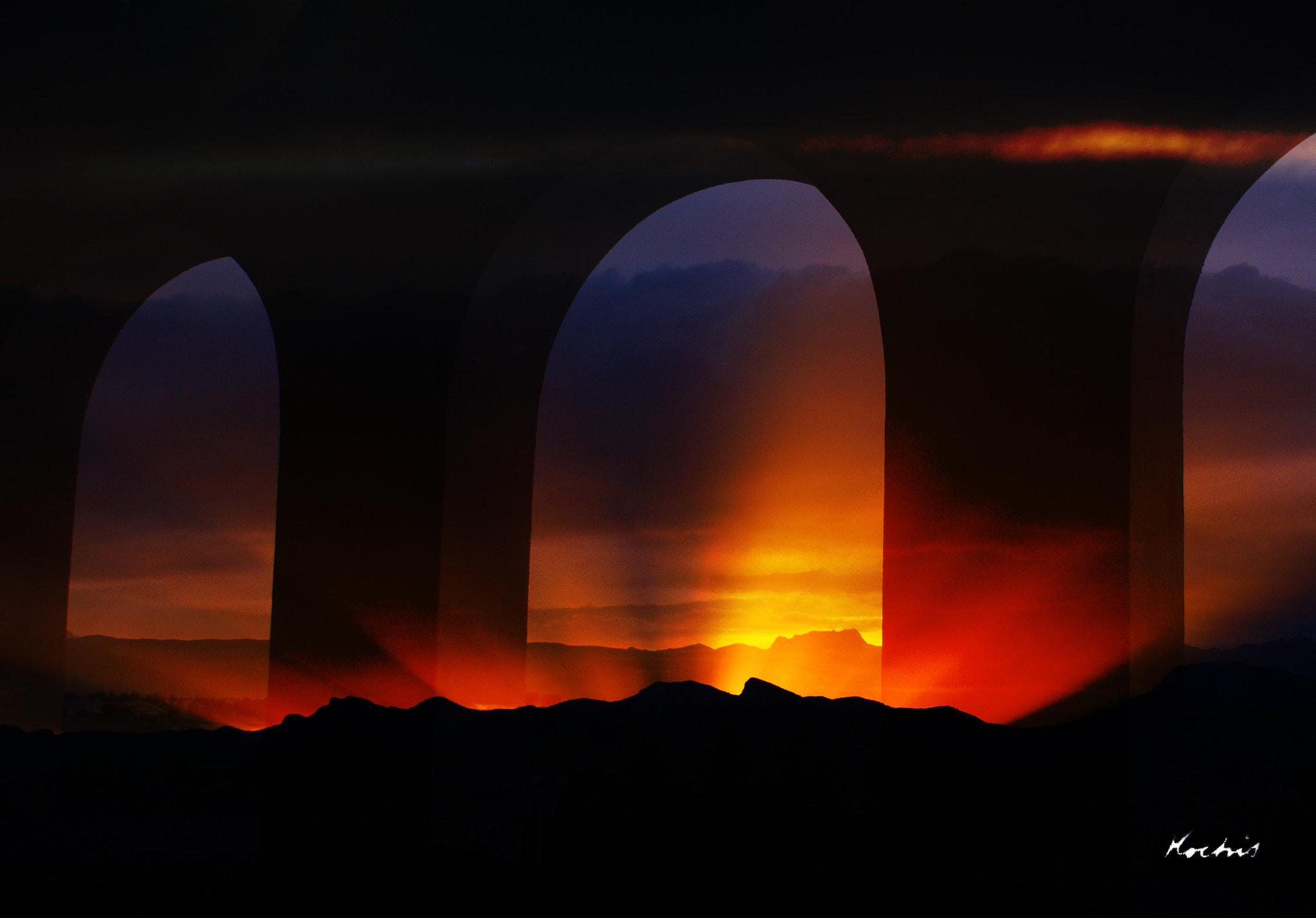 Photograph Sunset Arches by Randy Kochis on 500px