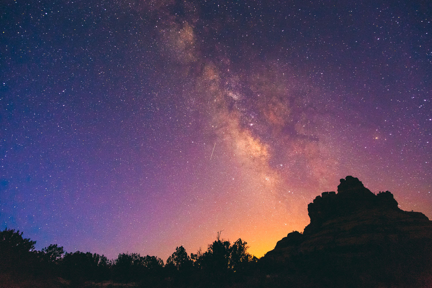Photograph Meteors & The Milky Way by Brian Furbush on 500px