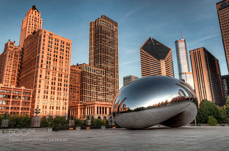 The Cloud Gate Sculpture | Millennium Park in Chicago, Illinois