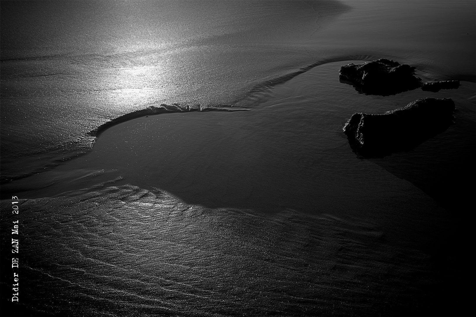 Photograph Sand Water and Rock ....  by Didier  DE ZAN on 500px