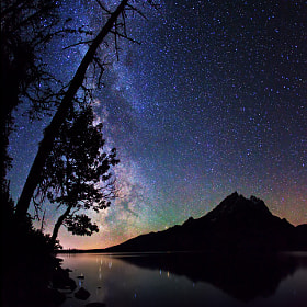 Stars over Jenny Lake by Royce's NightScapes (nightscape)) on 500px.com