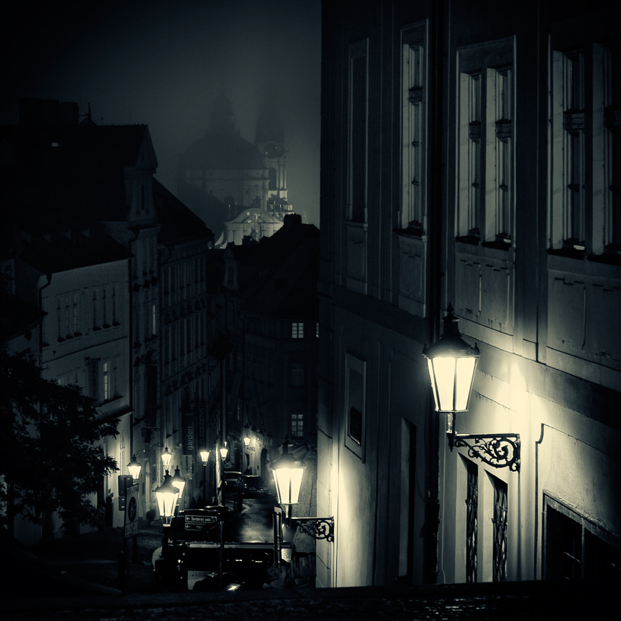 Lamplighter in Prague