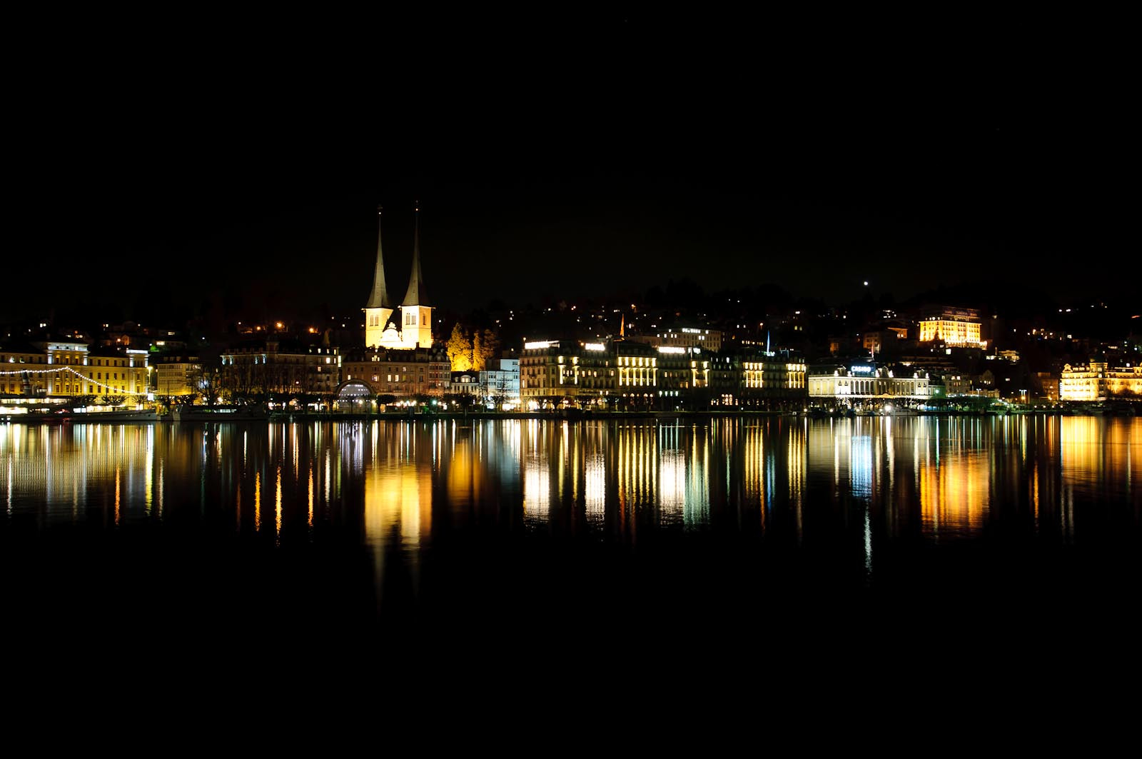 Photograph Lucerne at night by Martin Weibel on 500px