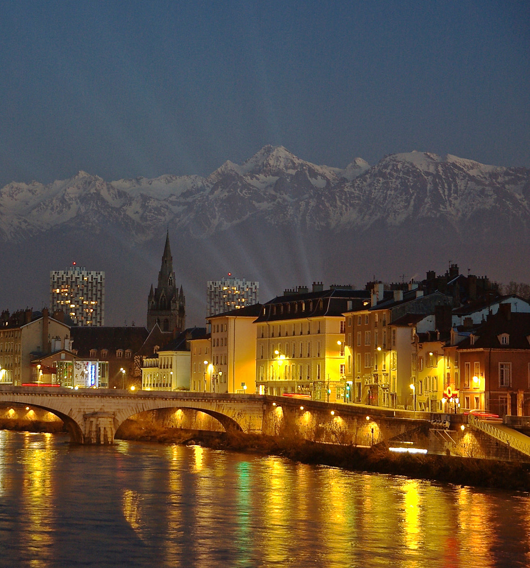 Photograph Night view of Grenoble by Bogdan's travel clicks on 500px