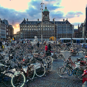 Dam Square, and bikes, of course