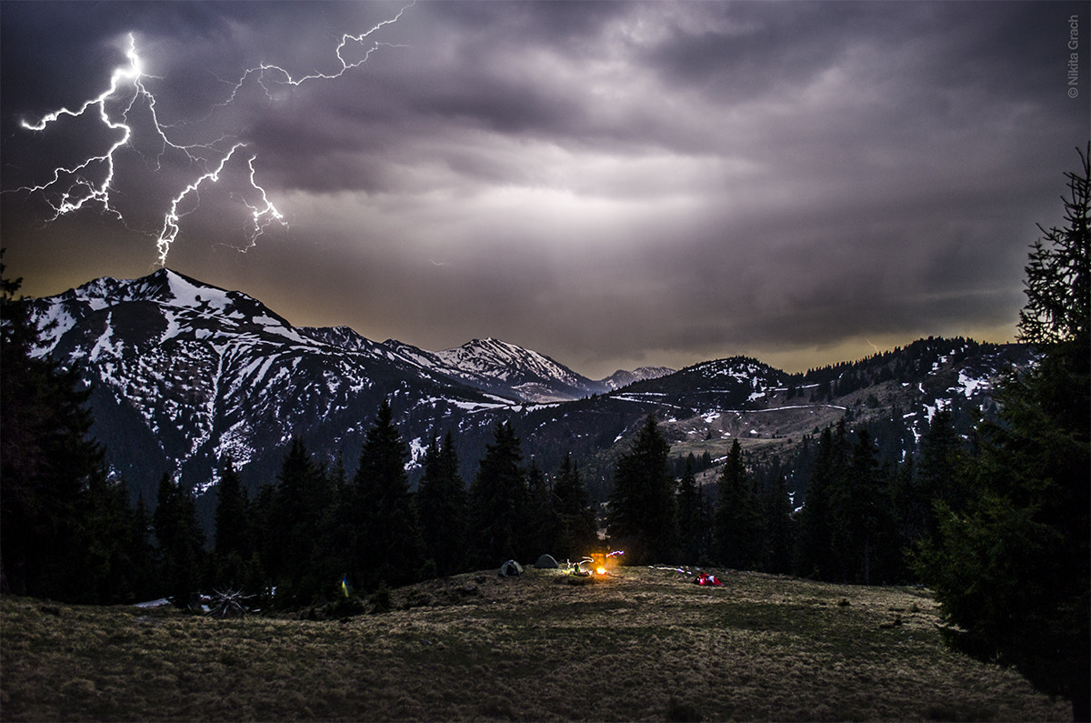 Photograph Mountain lightnings by Nikita Grach on 500px