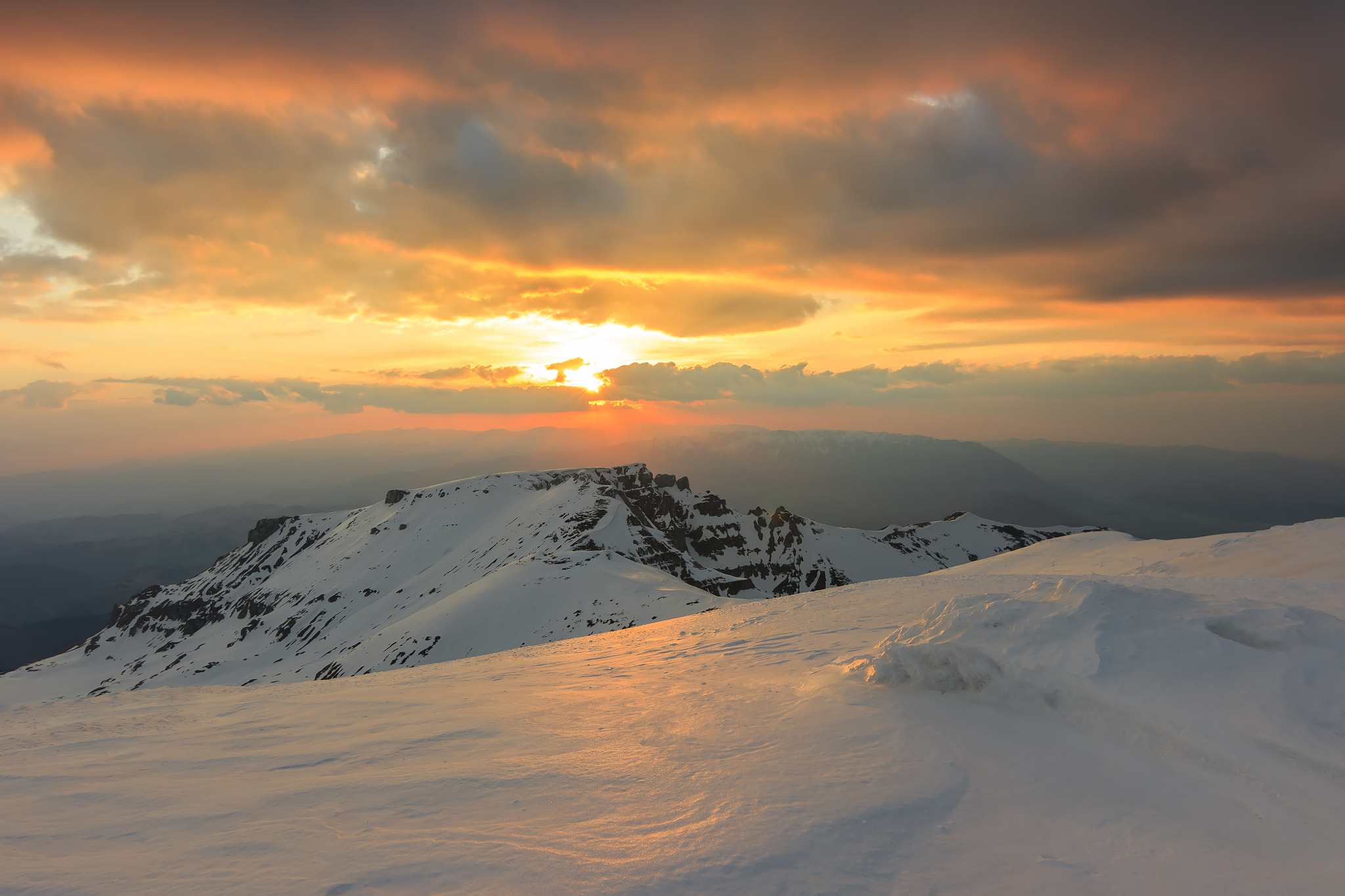 Photograph Magical sunset in the Bucegi mountains,Carpathians,Romania by Janos Gaspar on 500px