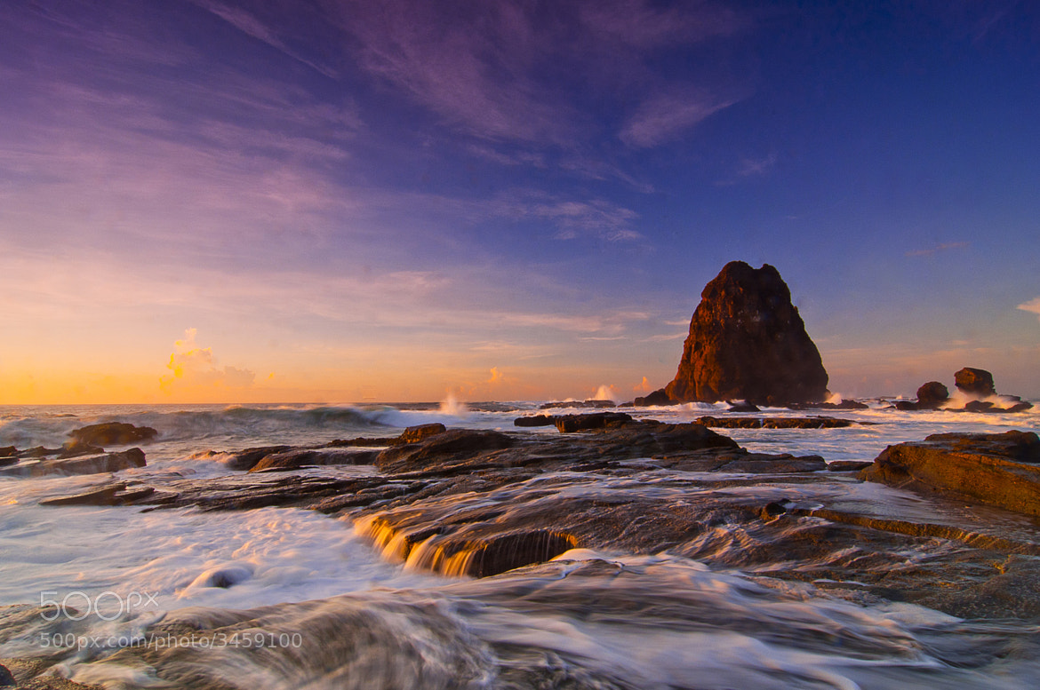 Photograph The Rock & Wave by andy rachmad on 500px