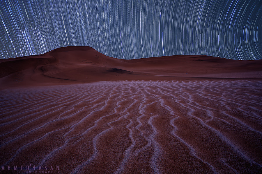 Photograph the beauty of sands with star trails by ahmed alharbi on 500px