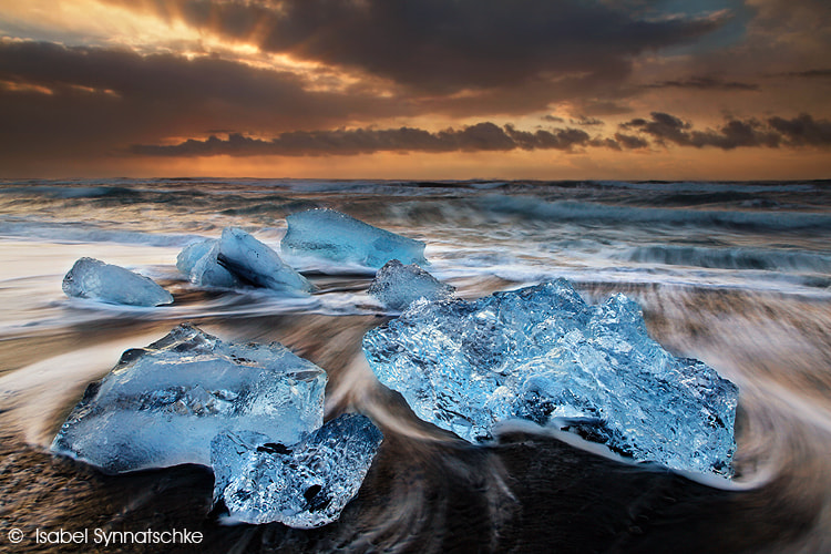 Photograph Sunrise at the Iceberg Beach by Isabel Synnatschke on 500px