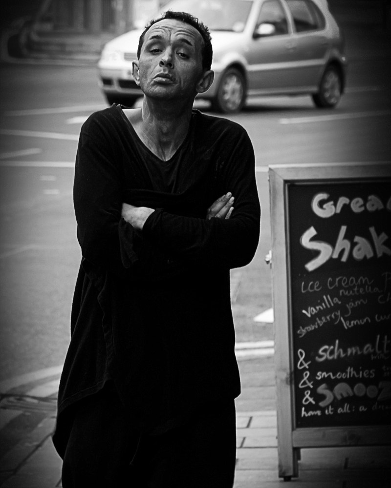 Photograph Crazy guy in the street by Tom Brossard on 500px