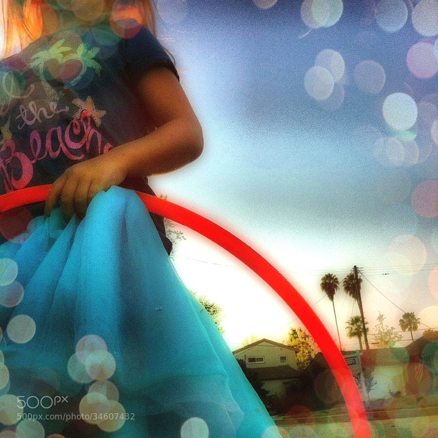 A girl and her hoop.