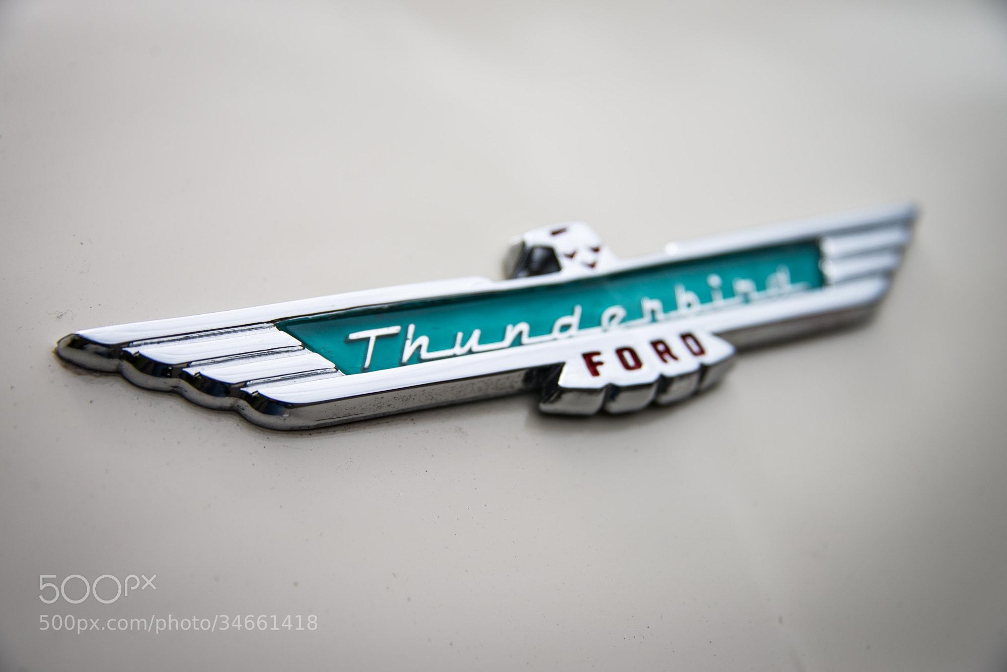 Photograph 1956 Ford Thunderbird Logo by Michael Sladek on 500px