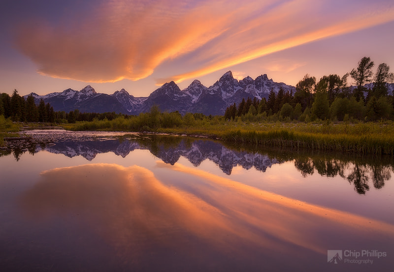 Photograph Cloud Reflections, Snake River, Grand Tetons by Chip Phillips on 500px