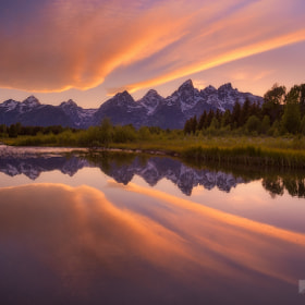 Cloud Reflections, Snake River, Grand Tetons