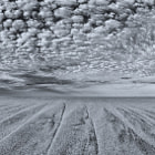 Dappled clouds and sand lines