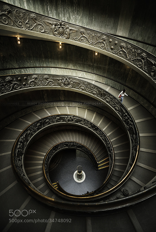 Vatican museum stairs by Beboy Photographies